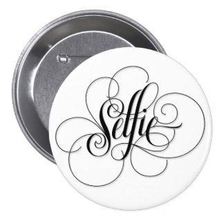 Luxurious 'Selfie' Round White Button.