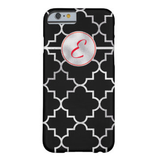 Luxurious Silver Foil Print Monogram Barely There iPhone 6 Case