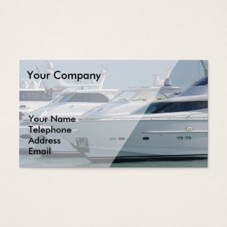 Luxurious Yachts are Lined up in Port Business Card