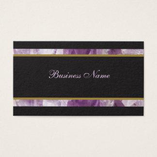 Luxury Amethyst Business Card