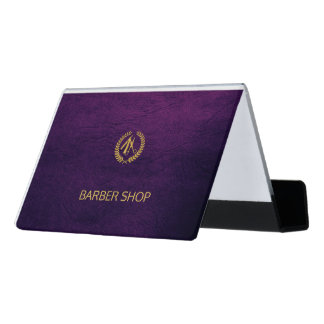 Purple business card holders cases zazzlecomau for Barber business card holder