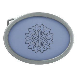 Luxury belt in winter blue style belt buckle