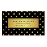 Luxury Black and Gold Glitter Polka Dots