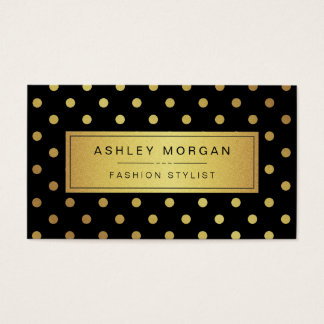 Luxury Black and Gold Glitter Polka Dots