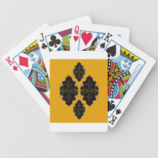 Luxury black and gold Ornaments Bicycle Playing Cards