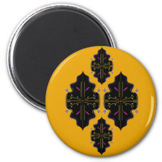 Luxury black and gold Ornaments Magnet