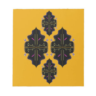 Luxury black and gold Ornaments Notepad