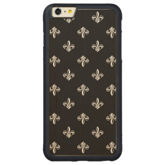 Luxury Black and White Fleur-de-lis Pattern