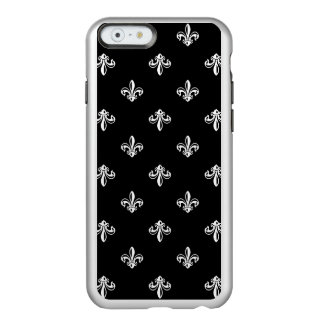 Luxury Black and White Fleur-de-lis Pattern Incipio Feather® Shine iPhone 6 Case