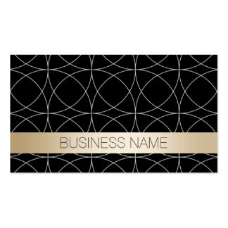 Luxury Black Gold Optometrist Business Card Template