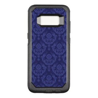 Luxury blue floral damask wallpaper OtterBox commuter samsung galaxy s8 case