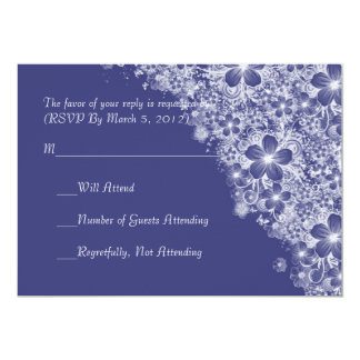 Luxury Blue Floral Spring Blanket RSVP card Personalized Announcements