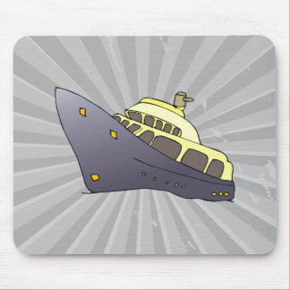 luxury boat mouse pad