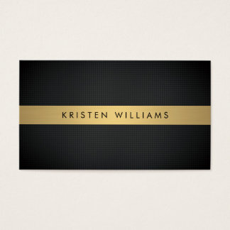 Luxury Boutique Gold Bar on Textured Black Bkgrd Business Card