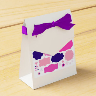 Luxury box with Purple ribbon Party Favour Boxes