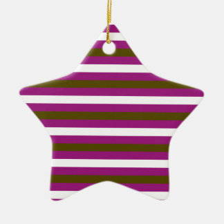 Luxury brown colorful stripes with white ceramic ornament