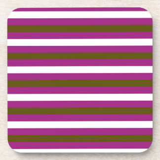 Luxury brown colorful stripes with white coaster