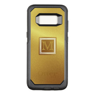 Luxury Brushed Gold with Monogram OtterBox Commuter Samsung Galaxy S8 Case