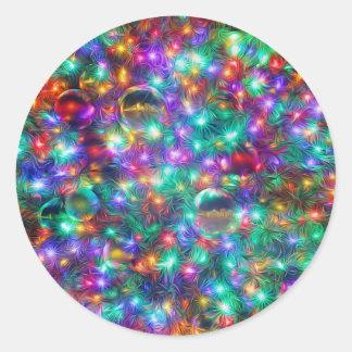 Luxury Christmas Round Sticker