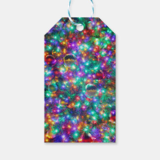 Luxury Christmas Sparkling Stars Gift Tags