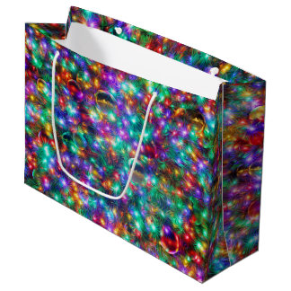 Luxury Christmas Sparkling Stars Large Gift Bag