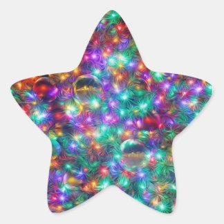 Luxury Christmas Star Sticker