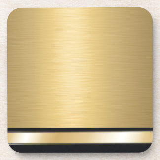 Luxury classy golden black personalized coaster