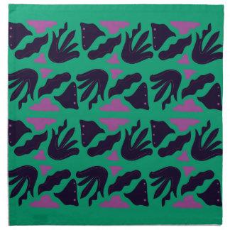 Luxury Collection : hand drawn Smaragd, Green Napkin