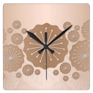 Luxury Cream Floral Lace Clock
