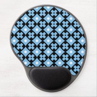 Luxury cross pattern gel mouse pad