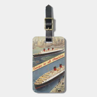 Luxury Cruises Travel Europe to all America Luggage Tags