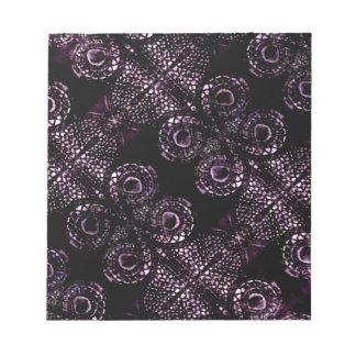 Luxury Dark Pattern Memo Note Pad