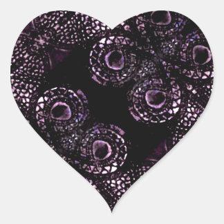 Luxury Dark Pattern Heart Sticker