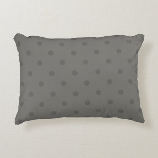 Luxury designers pillow : grey with Dots