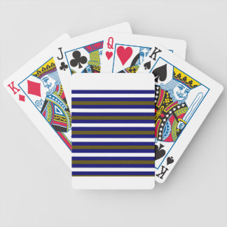 Luxury designers stripes / BLUE Bicycle Playing Cards