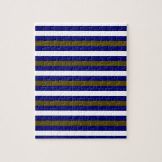 Luxury designers stripes / BLUE Jigsaw Puzzle