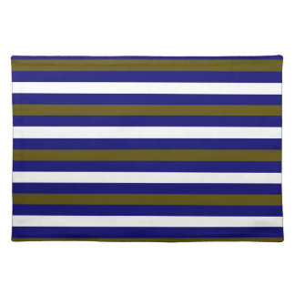 Luxury designers stripes / BLUE Place Mats