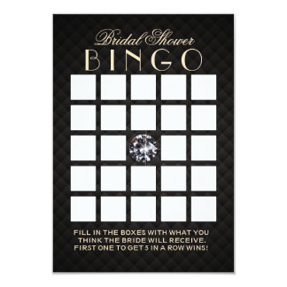Luxury Diamond Bridal Shower Bingo Cards