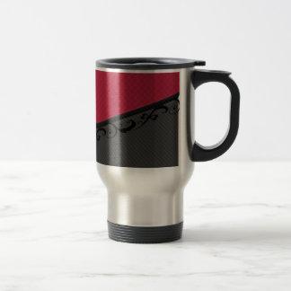 Luxury  discrete stripes stylish lace stainless steel travel mug