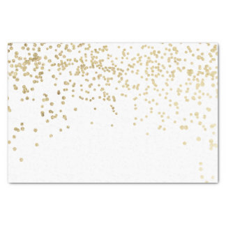 Luxury elegant modern faux gold confetti pattern tissue paper