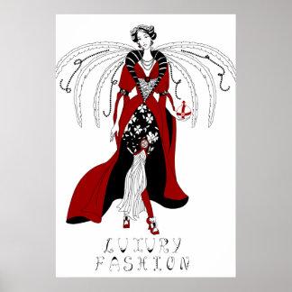 Luxury fashion. Graphic style illustration Poster