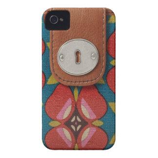 luxury fashion leather skin  VOL7 iPhone 4 Case