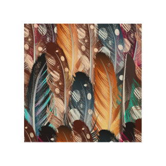 Luxury feathers Home edition Wood Canvases