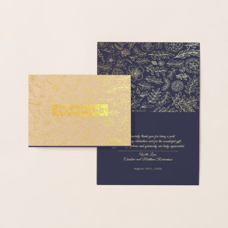 Luxury Foil-Pressed Thank You Wedding Cards