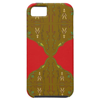 Luxury Folk ornaments brown red Case For The iPhone 5