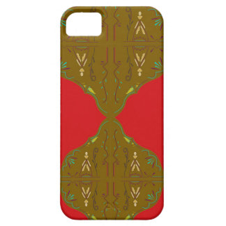 Luxury Folk ornaments brown red iPhone 5 Case