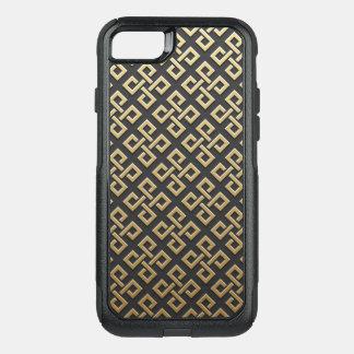 Luxury Geometric Golden Metallic OtterBox Commuter iPhone 8/7 Case