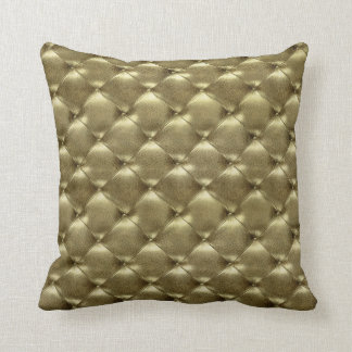 Luxury Glam Gold Tufted Leather Opulent Gold Cushion