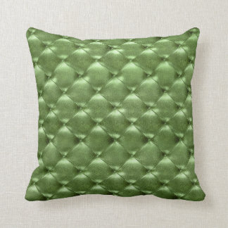 Luxury Glam Tufted Leather Opulent Mint Green Gras Cushion