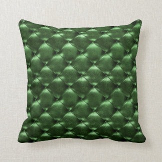 Luxury Glam Tufted Leather Opulent VIP Green Cali Cushion